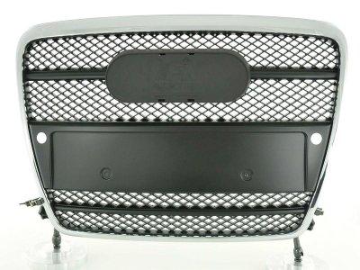 Решётка радиатора от FK Automotive Black Chrome под кольца и парткроники на Audi A6 C6