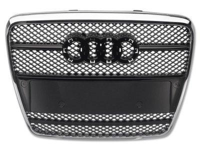 Решётка радиатора от FK Automotive Black Chrome под кольца на Audi A6 C6