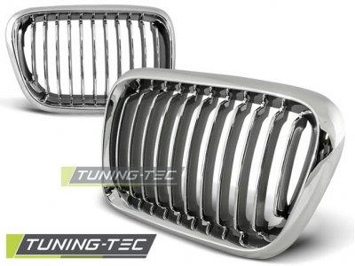 Решётка радиатора от Tuning-Tec Chrome на BMW 3 E36 рестайл