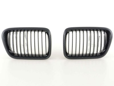 Решётка радиатора от FK Automotive Carbon Look на BMW 3 E36 рестайл