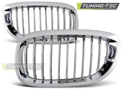 Решётка радиатора Chrome от Tuning-Tec на BMW 3 E46 Coupe / Cabrio рестайл