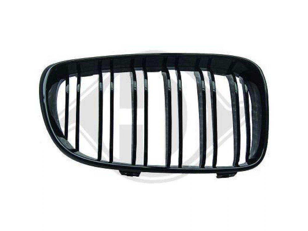 Решётка радиатора Glossy Black M Look от HD на BMW 3 E46 Limousine / Touring рестайл