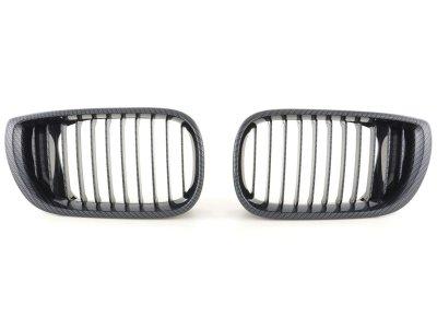 Решётка радиатора от FK Automotive Carbon Look на BMW 3 E46 Limousine рестайл