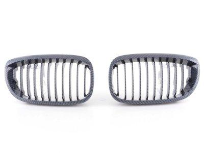 Решётка радиатора от FK Automotive Carbon Look на BMW 3 E46 Coupe рестайл