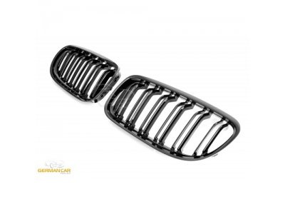 Решётка радиатора Glossy Black M3 Look от Germanparts на BMW 3 E90 рестайл