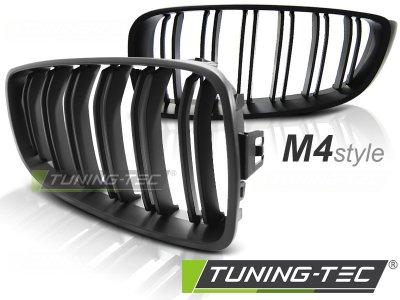 Решётка радиатора от HD M4 Look Matte Black Var2 на BMW 4 F32 / F33 / F36