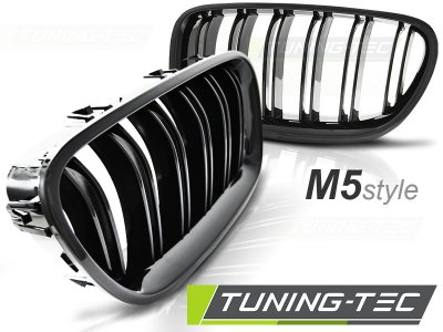 Решётка радиатора от Tuning-Tec M5 Look Glossy Black на BMW 5 F10 / F11