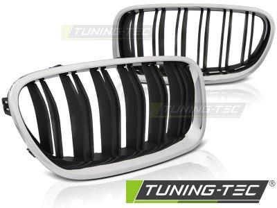 Решётка радиатора от Tuning-Tec M5 Look Black Chrome на BMW 5 F10 / F11