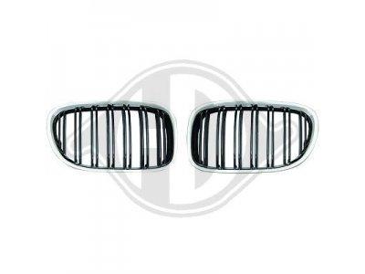 Решётка радиатора Black Chrome M Look от HD на BMW 7 F01
