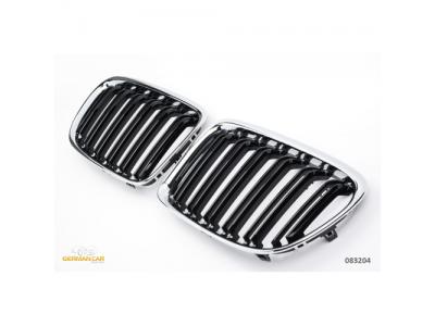 Решётка радиатора Black Chrome M Look от Germanparts на BMW X3 F25 рестайл