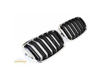 Решётка радиатора от GermanParts M Look Black Chrome на BMW X5 E70 / X6 E71