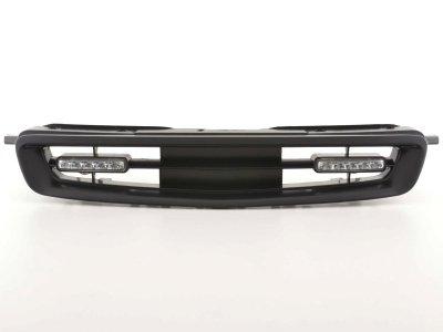 Решётка радиатора от FK Automotive Black с DRL на Honda Civic VI