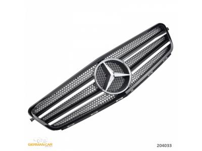 Решётка радиатора C63 AMG Look Black Chrome на Mercedes C класс W204