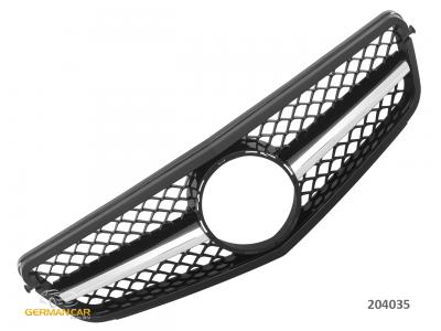 Решётка радиатора AMG C63 Look Black на Mercedes C класс W204 рестайл