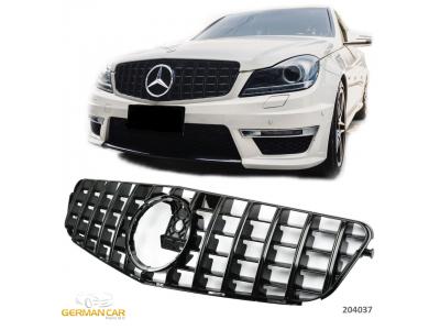 Решётка радиатора AMG GT Look Black на Mercedes C класс W204 рестайл