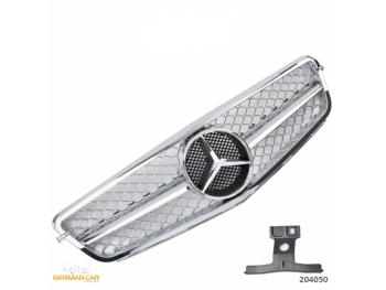 Решётка радиатора в стиле AMG C63 Look Chrome на Mercedes C класс W204