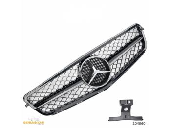 Решётка радиатора AMG C63 Look Glossy Black на Mercedes C класс W204