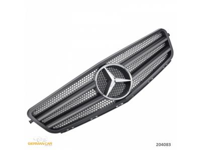 Решётка радиатора в стиле AMG C63 Var2 Matt Black Chrome на Mercedes C класс W204