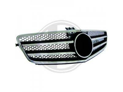 Решётка радиатора AMG Look Black Chrome на Mercedes C класс W204