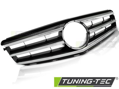 Решётка радиатора Avantgarde Look Black Chrome на Mercedes C класс W204