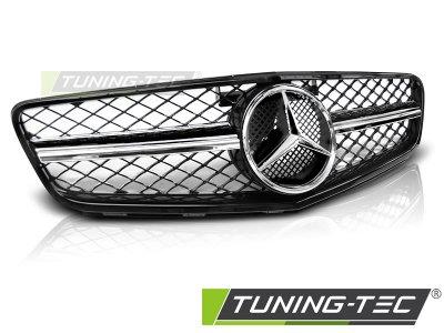 Решётка радиатора C63 AMG Look Glossy Black Chrome на Mercedes C класс W204