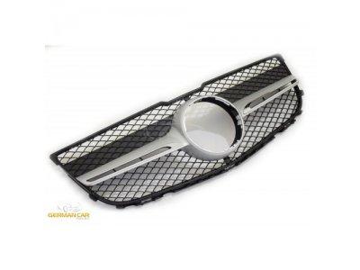 Решётка радиатора AMG Look Black Silver от GermanParts на Mercedes GLK класс X204 рестайл