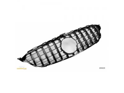 Решётка радиатора в стиле AMG GT Glossy Black от HD на Mercedes C класс W205