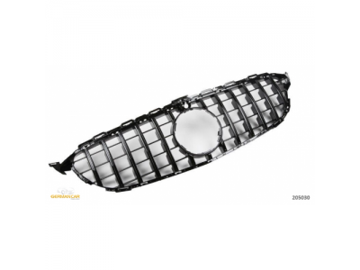 Решётка радиатора под камеру в стиле AMG GT Glossy Black от HD на Mercedes C класс W205
