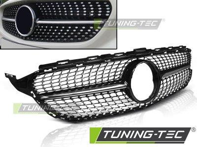 Решётка радиатора в стиле AMG C45 Diamond Black Chrome на Mercedes C класс W205