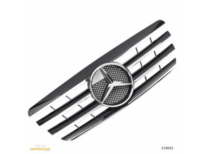 Решётка радиатора AMG Look Black Chrome на Mercedes E класс W210 рестайл