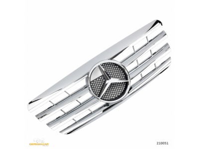 Решётка радиатора AMG Look Chrome на Mercedes E класс W210 рестайл