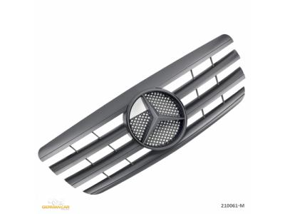 Решётка радиатора AMG Look Matt Black Var2 на Mercedes E класс W210 рестайл