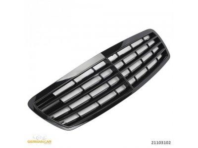 Решётка радиатора Avantgarde Glossy Black на Mercedes E класс W211