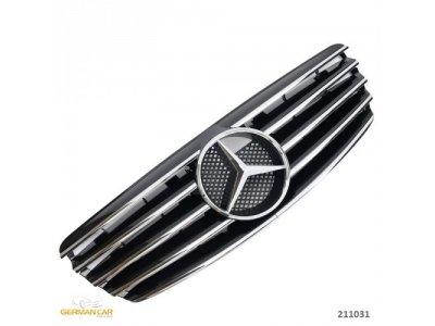 Решётка радиатора AMG Look Black Chrome на Mercedes E класс W211