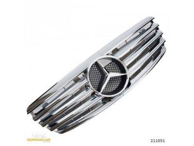 Решётка радиатора AMG Look Chrome на Mercedes E класс W211