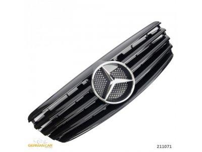 Решётка радиатора AMG Look Glossy Black на Mercedes E класс W211