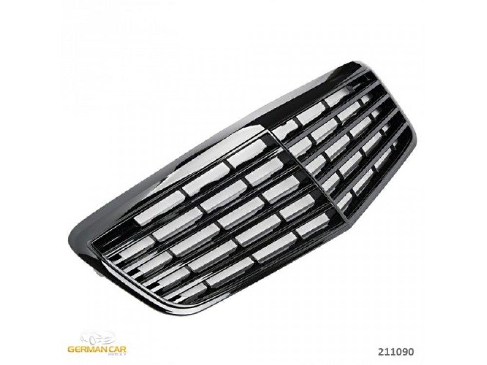 Решётка радиатора Avantgarde Glossy Black на Mercedes E класс W211 рестайл