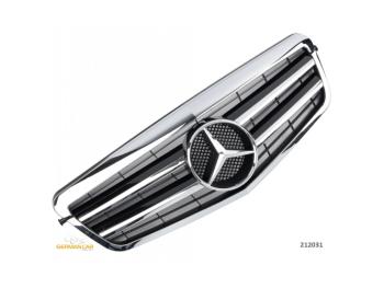 Решётка радиатора AMG Look Black Chrome на Mercedes E класс W212