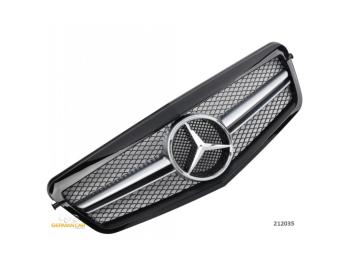 Решётка радиатора AMG Look Glossy Black на Mercedes E класс W212