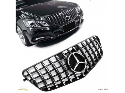 Решётка радиатора AMG GT Look Black Chrome на Mercedes E класс W212