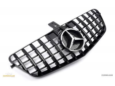 Решётка радиатора AMG GT Look Black на Mercedes E класс W212