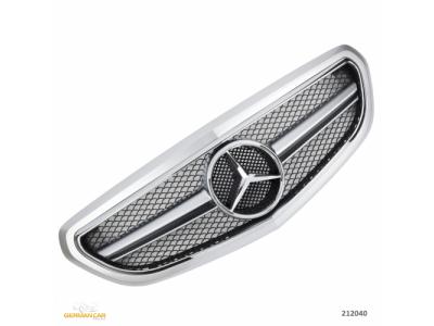 Решётка радиатора AMG Look Silver Chrome, Avantgarde на Mercedes E класс W212 рестайл