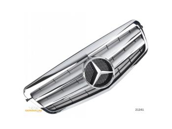 Решётка радиатора Silver Chrome на Mercedes E класс W212
