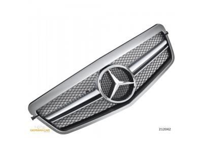 Решётка радиатора AMG Look Silver Chrome на Mercedes E класс W212