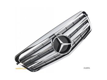 Решётка радиатора Chrome на Mercedes E класс W212