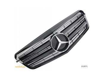 Решётка радиатора Glossy Black от Germanparts на Mercedes E класс W212