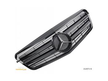 Решётка радиатора Glossy Black Var2 от Germanparts на Mercedes E класс W212