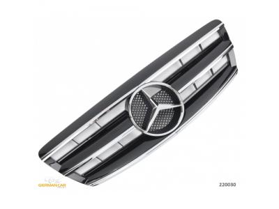 Решётка радиатора AMG Look Black Chrome на Mercedes S класс W220 рестайл
