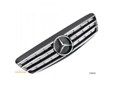Решётка радиатора от Germanparts Black Chrome на Mercedes S класс W220