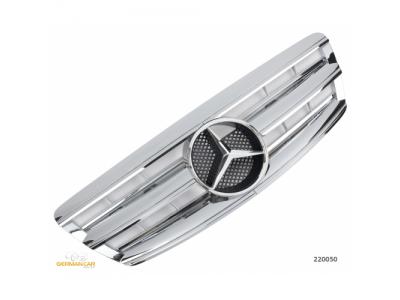 Решётка радиатора AMG Look Chrome на Mercedes S класс W220 рестайл